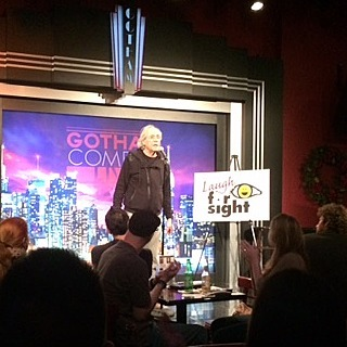 The great robertklein at the laughforsight benefit tonight gotham nyc