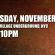 NOV 4th @ VILLAGE UNDERGROUND, NYC