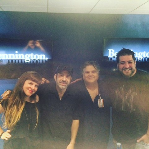 A quick picture after a fun hang on the benningtonsxmhellip