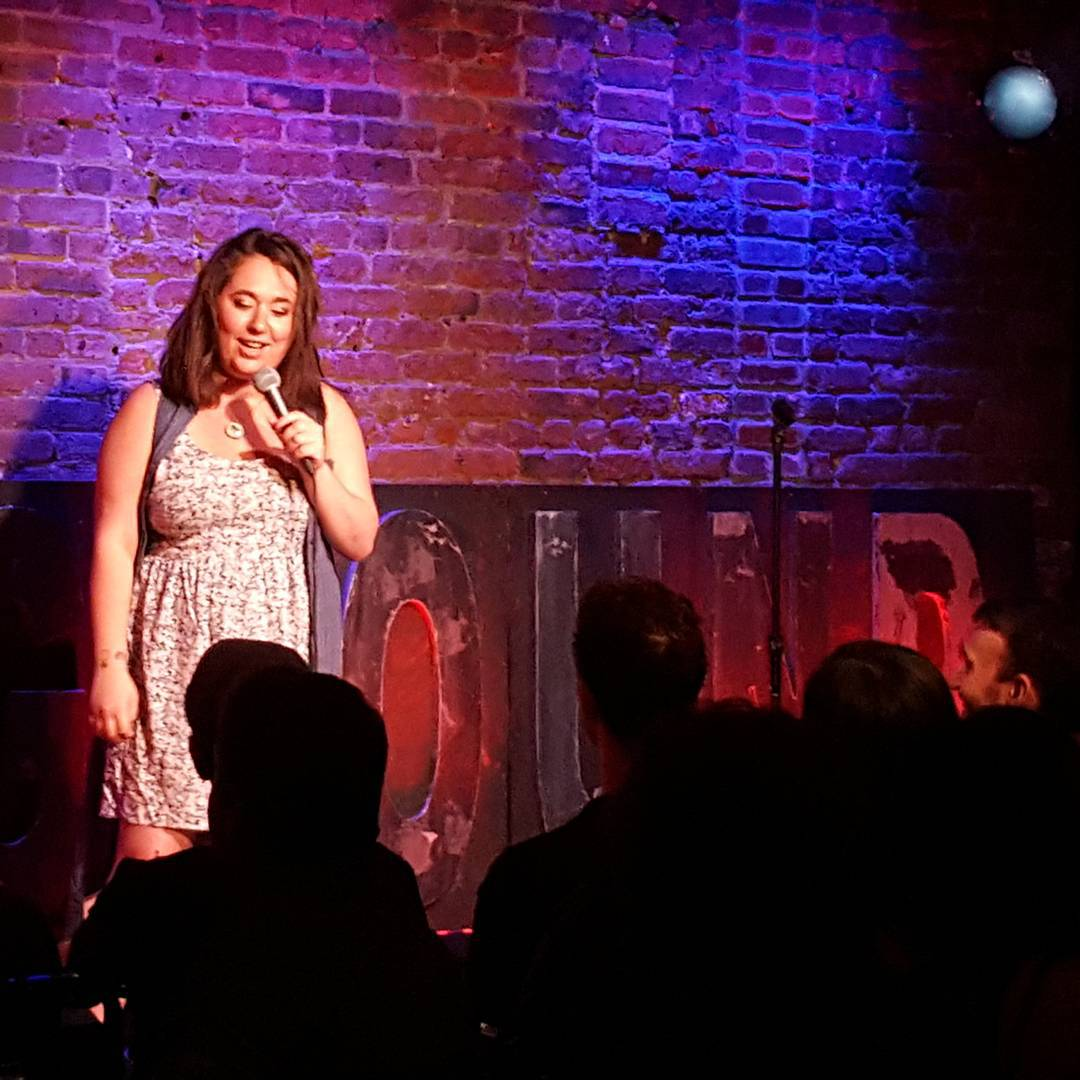 Lisa Treyger glittercheese kicking off tonights 2nd ComedyUndergroundLive show!