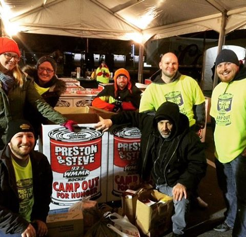 Hanging with the good people at the wmmr prestonandsteveshow campoutforhungerhellip