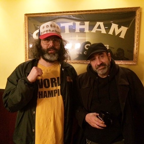 At the laughforsight benefit with judahworldchamp tonight gotham nyc