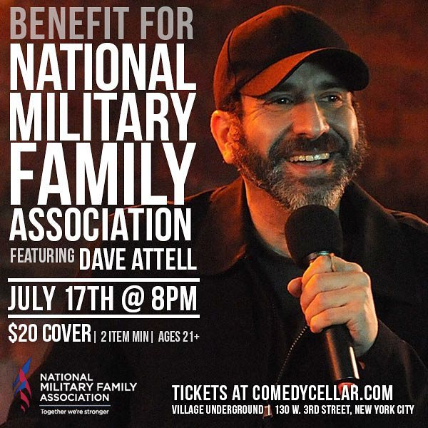 Doing a show for militaryfamily at NYCComedyCellar on 717 Ticketshellip