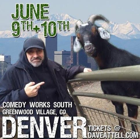 See yah in Denver this weekend comedyworksdenver